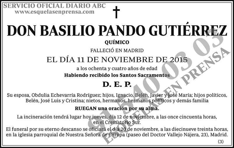 Basilio Pando Gutiérrez